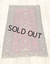 OLD HAND WOVEN SHAGGY RUG [ANTIQUE]
