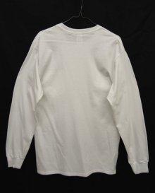 他の写真3: GILDAN ポケット付き ロングスリーブ Tシャツ WHITE (NEW)