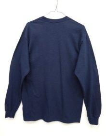 他の写真3: GILDAN ポケット付き ロングスリーブ Tシャツ NAVY (NEW)