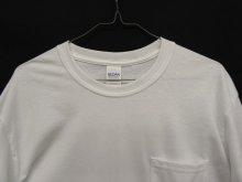 他の写真1: GILDAN ポケット付き ロングスリーブ Tシャツ WHITE (NEW)