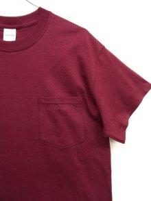 他の写真2: GILDAN ポケット付き 半袖 Tシャツ BURGUNDY (NEW)
