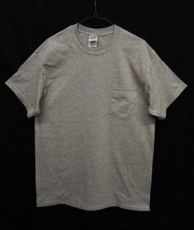 画像1: GILDAN ポケット付き 半袖 Tシャツ GREY (NEW)
