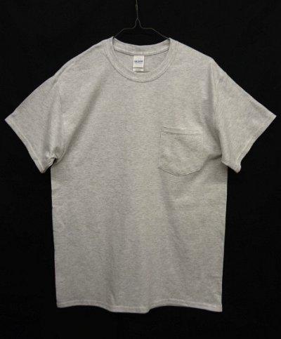 画像1: GILDAN ポケット付き 半袖 Tシャツ ASH GREY (NEW)
