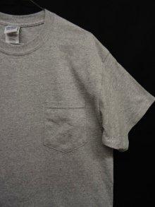 他の写真2: GILDAN ポケット付き 半袖 Tシャツ GREY (NEW)
