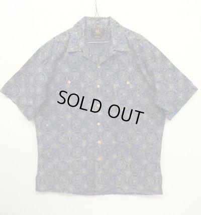 画像1: 90'S RRL 旧タグ 半袖 オープンカラーシャツ インディゴベース (VINTAGE)