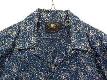 他の写真1: 90'S RRL 旧タグ 半袖 オープンカラーシャツ インディゴベース (VINTAGE)