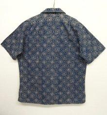 他の写真3: 90'S RRL 旧タグ 半袖 オープンカラーシャツ インディゴベース (VINTAGE)