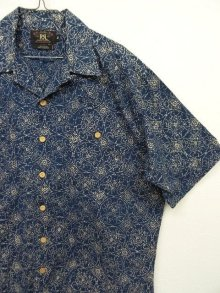 他の写真2: 90'S RRL 旧タグ 半袖 オープンカラーシャツ インディゴベース (VINTAGE)