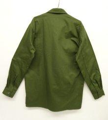 他の写真3: スウェーデン軍 M55 裾スクエア ミリタリーシャツ オリーブ (DEADSTOCK)