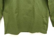 他の写真2: スウェーデン軍 M55 裾スクエア ミリタリーシャツ オリーブ (DEADSTOCK)