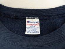 他の写真1: 90'S CHAMPION 刺繍タグ 両面3段プリント リバースウィーブ NAVY USA製 (VINTAGE)