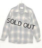 70'S JC PENNEY オープンカラーシャツ オンブレチェック (VINTAGE)
