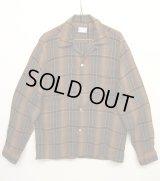 60'S TOWNCRAFT レーヨン オープンカラーシャツ オンブレチェック (VINTAGE)
