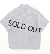 PATAGONIA オープンカラー 半袖シャツ ネイビーベース 総柄 (USED)