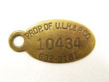 他の写真1: PROP OF U.L.H. & P.CO ブラス製 タグ キーホルダー (ANTIQUE)