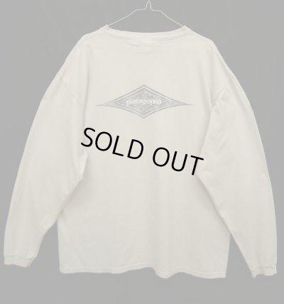 画像1: 90'S PATAGONIA 白タグ バックプリント ロゴ 長袖Tシャツ USA製 (VINTAGE)