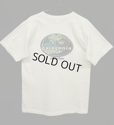 画像1: 90'S PATAGONIA 白タグ ハレイワ限定 波オーバル Tシャツ USA製 (VINTAGE)
