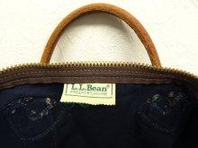 他の写真1: 80'S LL Bean キャンバス/レザー ダッフルバッグ ネイビー USA製 (VINTAGE)