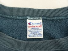 他の写真1: 90'S CHAMPION 刺繍タグ リバースウィーブ 無地 スレートブルー USA製 (VINTAGE)