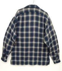 他の写真3: 90'S RRL 初期 三ツ星タグ レーヨン オープンカラーシャツ オンブレチェック (VINTAGE)