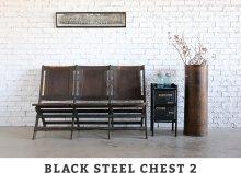 """他の写真1: ANOTHER LIFE """"BLACK STEEL CHEST 2"""" アイアン/スチール チェスト (NEW)"""