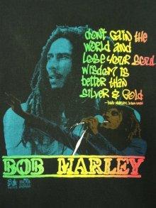 他の写真3: 90'S BOB MARLEY シングルステッチ 半袖 Tシャツ BLACK USA製 (VINTAGE)