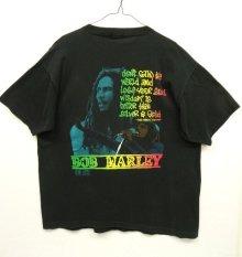 他の写真2: 90'S BOB MARLEY シングルステッチ 半袖 Tシャツ BLACK USA製 (VINTAGE)