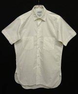 60'S EATON'S OF CANADA マチ付き 半袖 シャツ WHITE 日本製 (VINTAGE)