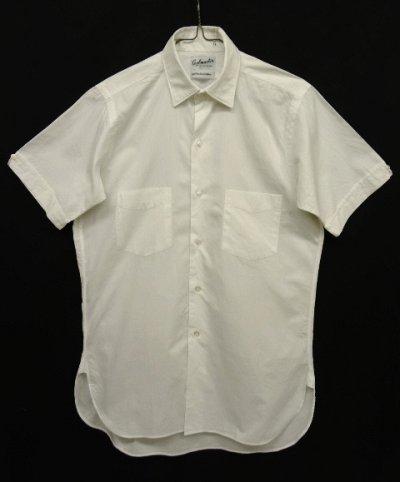 画像1: 60'S EATON'S OF CANADA マチ付き 半袖 シャツ WHITE 日本製 (VINTAGE)