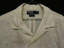 """他の写真1: 90'S RALPH LAUREN """"CALDWELL"""" リネン 半袖 オープンカラーシャツ 刺繍入り ホワイト (VINTAGE)"""