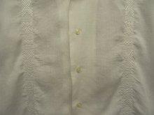 """他の写真2: 90'S RALPH LAUREN """"CALDWELL"""" リネン 半袖 オープンカラーシャツ 刺繍入り ホワイト (VINTAGE)"""