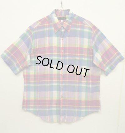 画像1: 80'S ABERCROMBIE & FITCH 旧タグ マドラスチェック BDシャツ USA製 (VINTAGE)