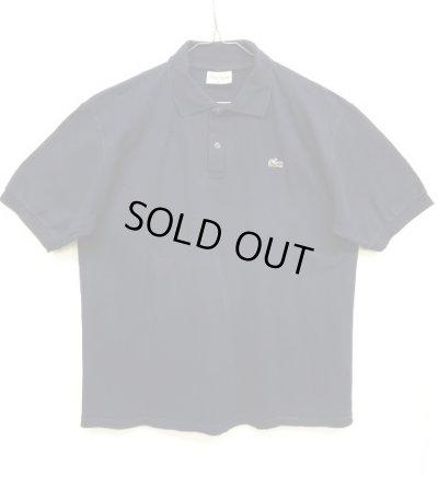 画像1: 70'S CHEMISE LACOSTE ポロシャツ ネイビー フランス製 (VINTAGE)