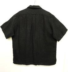 """他の写真3: 90'S RALPH LAUREN """"CALDWELL"""" リネン 半袖 オープンカラーシャツ BLACK (VINTAGE)"""
