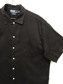 """他の写真2: 90'S RALPH LAUREN """"CHAUNCEY"""" コットン 半袖シャツ BLACK (VINTAGE)"""
