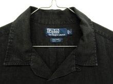 """他の写真1: 90'S RALPH LAUREN """"CALDWELL"""" リネン 半袖 オープンカラーシャツ BLACK (VINTAGE)"""