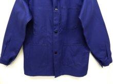 他の写真2: フレンチワーク カバーオール ワークジャケット NAVY (DEADSTOCK)
