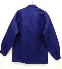 他の写真3: フレンチワーク カバーオール ワークジャケット NAVY (DEADSTOCK)