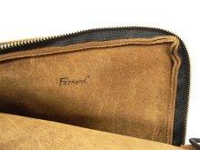 """他の写真1: FERNAND LEATHER """"CLUTCH BAG W/ZIP"""" オールレザー クラッチバッグ USA製 (USED)"""