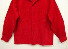 他の写真2: 60'S TOWNCRAFT コーデュロイ オープンカラーシャツ RED (VINTAGE)