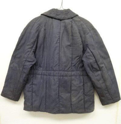 画像2: ユーロワーク 中綿入り ワークジャケット カバーオール ブルーグレー (VINTAGE)