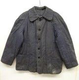 ユーロワーク 中綿入り ワークジャケット カバーオール ブルーグレー (VINTAGE)