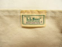 他の写真1: 80'S LL Bean 2色タグ 耳付き キャンバス トートバッグ レッド/オフホワイト USA製 (VINTAGE)