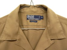 他の写真1: 90'S RALPH LAUREN レーヨン100% オープンカラーシャツ BEIGE (VINTAGE)