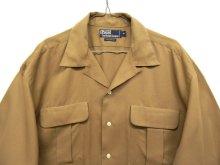 他の写真2: 90'S RALPH LAUREN レーヨン100% オープンカラーシャツ BEIGE (VINTAGE)