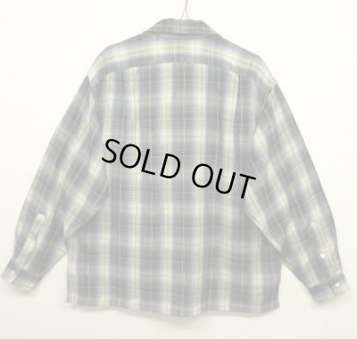 画像2: 90'S RRL 初期 三ツ星タグ レーヨン オープンカラーシャツ オンブレチェック (VINTAGE)