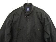 他の写真2: 90'S GAP 旧タグ フラップ付きポケット ポプリン BDシャツ ブラック (VINTAGE)