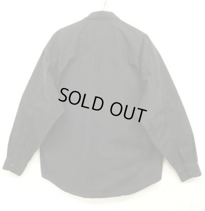 画像2: 90'S GAP 旧タグ フラップ付きポケット ポプリン BDシャツ ブラック (VINTAGE)