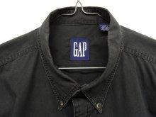 他の写真1: 90'S GAP 旧タグ フラップ付きポケット ポプリン BDシャツ ブラック (VINTAGE)