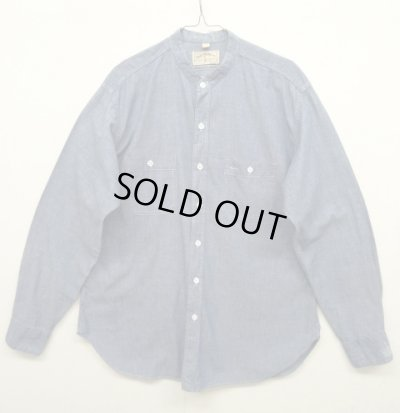 画像1: 70'S POLO WESTERN スタンドカラー シャンブレーシャツ (VINTAGE)
